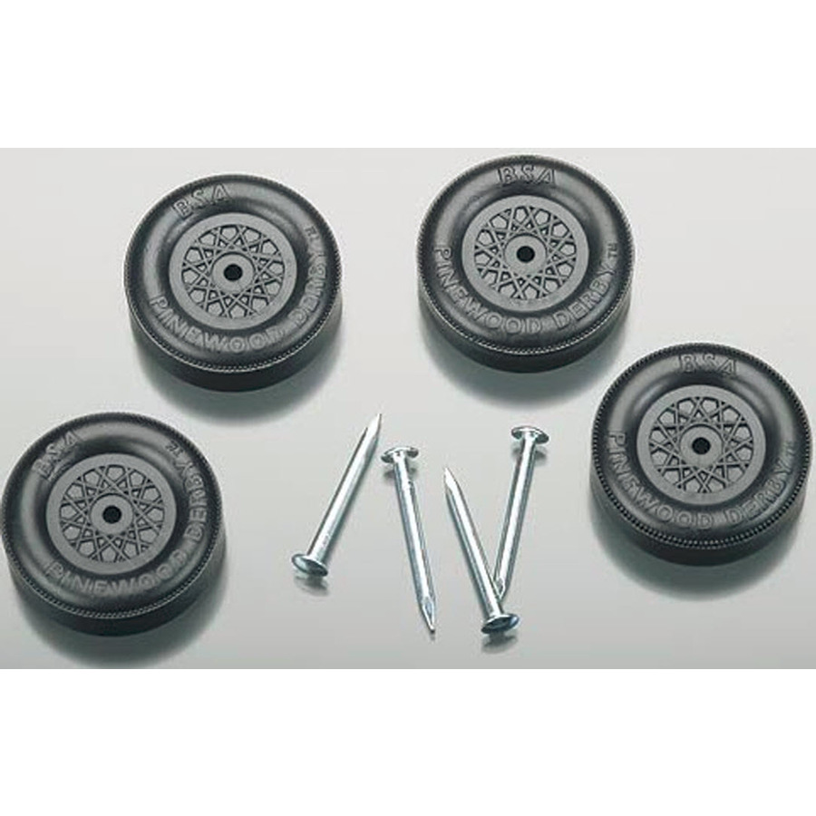 pinewood derby wheels axles