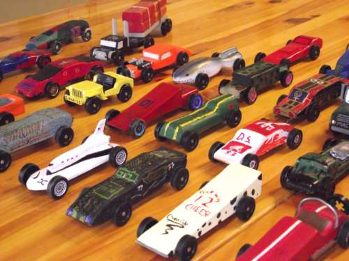 Pinewood Derby Car Ready To Race