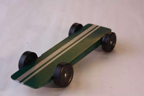 Pinewood derby car super slim wedge