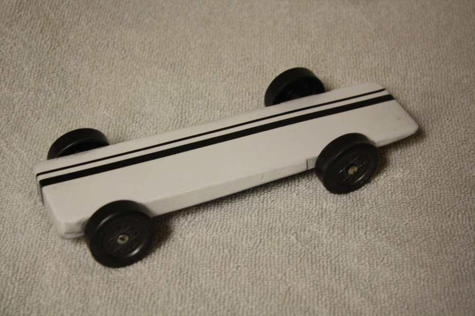Pinewood derby car super slim wedge