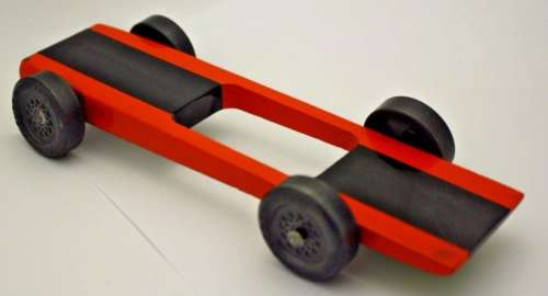 "Pinewood Derby Razor Wedge 1.180"" Wheel Car"