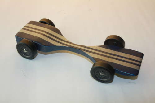 Warped Physics Pinewood Derby Car